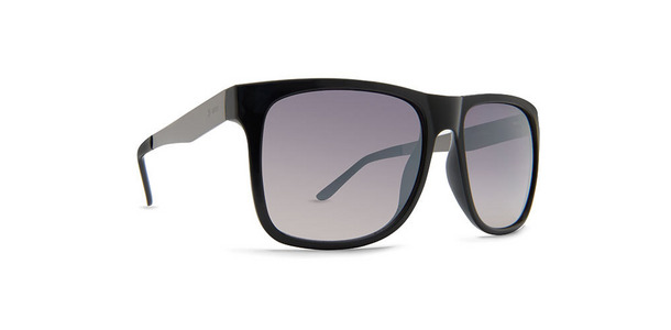 Dot Dash Admiral sunglasses in black gloss with grey chrome gradient lenses DSVTFADM-BCM