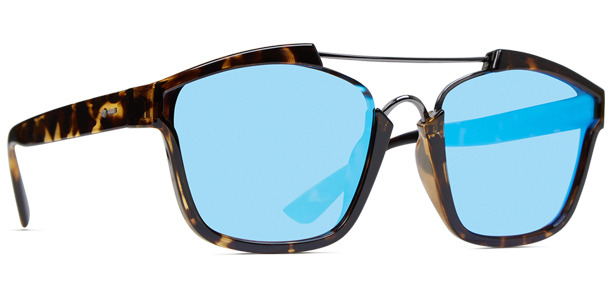 Dot Dash Confuego sunglasses in tortoise gloss with blue chrome lenses DSDHJCON-TBL / DSDVHJCON-TBL