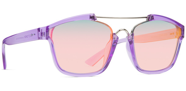 Dot Dash Confuego sunglasses in purple crystal with pink chrome lenses DSDHJCON-UPC